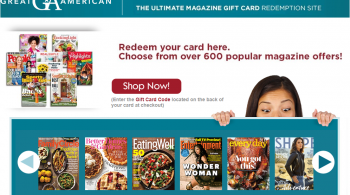 American Magazine Gift Card Online
