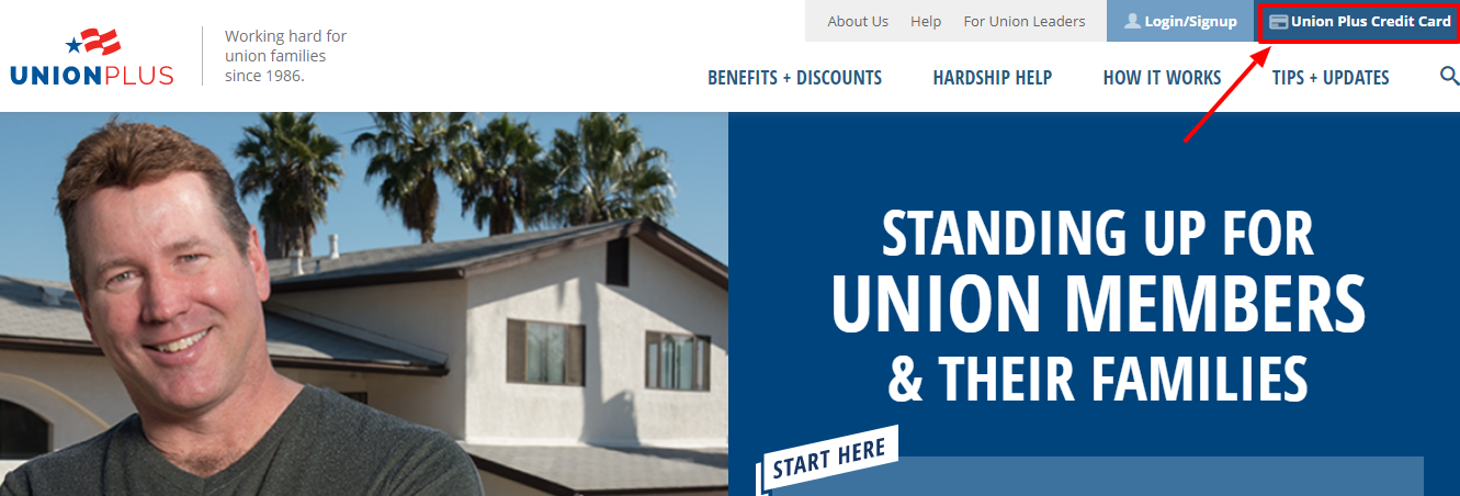 Application for Union Plus credit card
