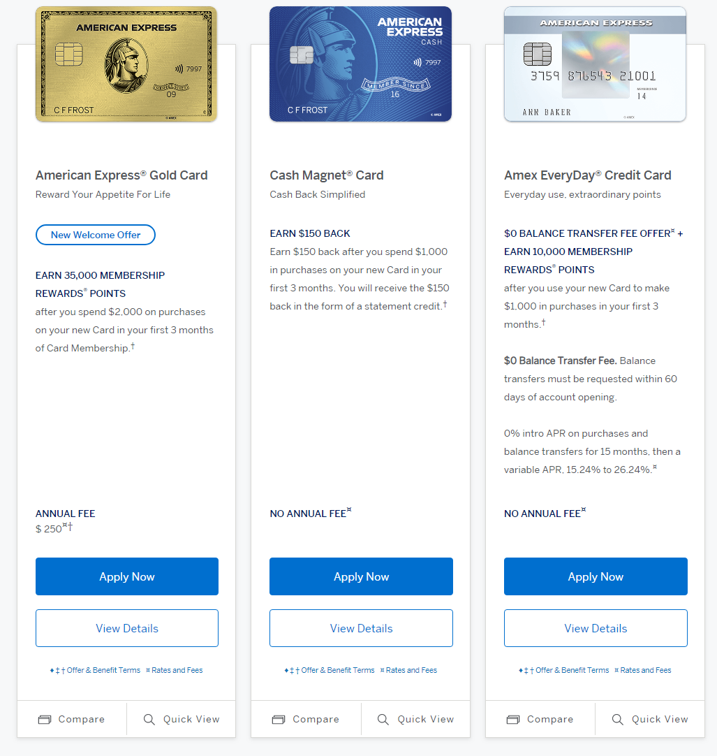 Apply for a Credit Card Online   American Express