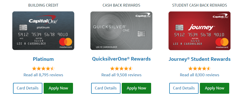 Capital One Credit Cards Apply Online