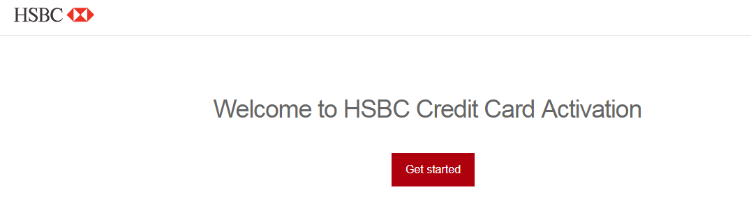 HSBC Credit Card Activation process