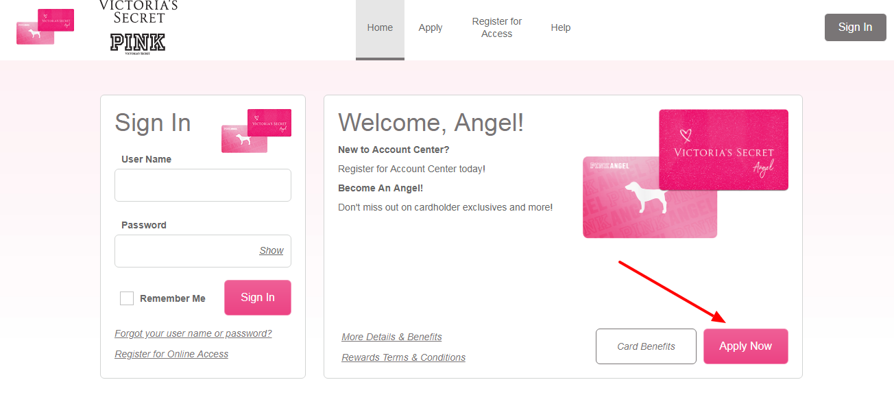 Victoria s Secret Angel Credit Card Apply