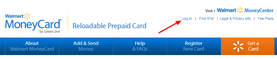 Walmart MoneyCard Log In