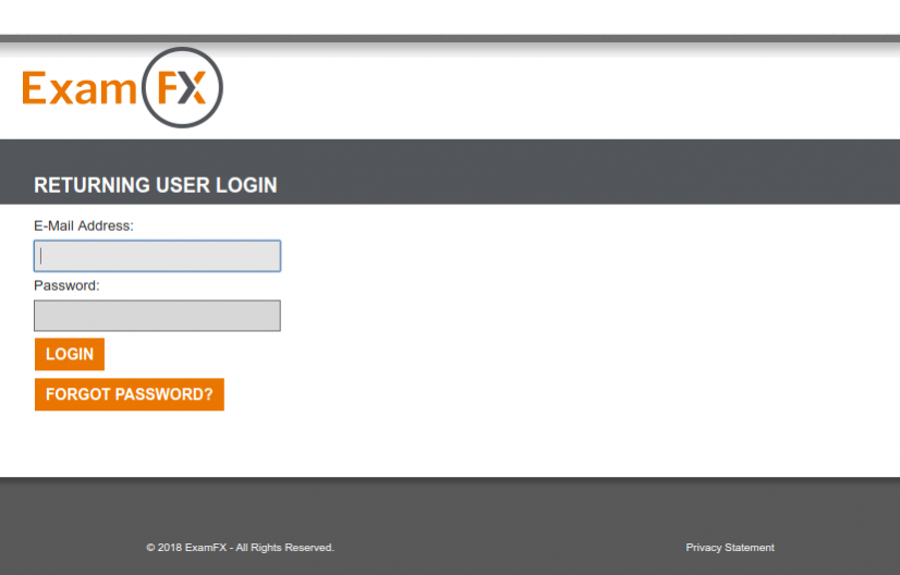 Login to ExamFX