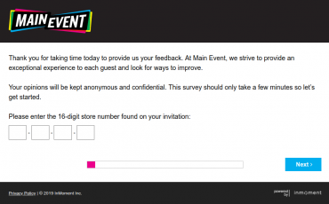 Main Event Guest Satisfaction Survey